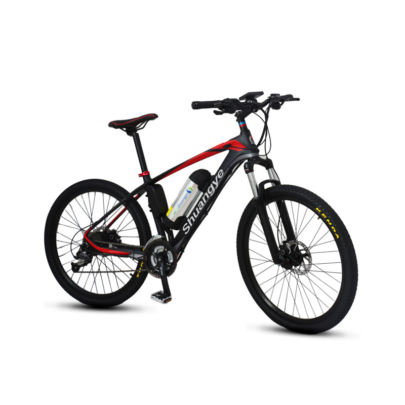 26 inch carbon frame pedelec mountainbike shuangye ebike. Black Bedroom Furniture Sets. Home Design Ideas