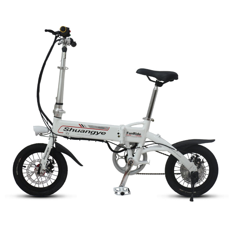 14 inch aluminium frame electric mini bike shuangye ebike. Black Bedroom Furniture Sets. Home Design Ideas
