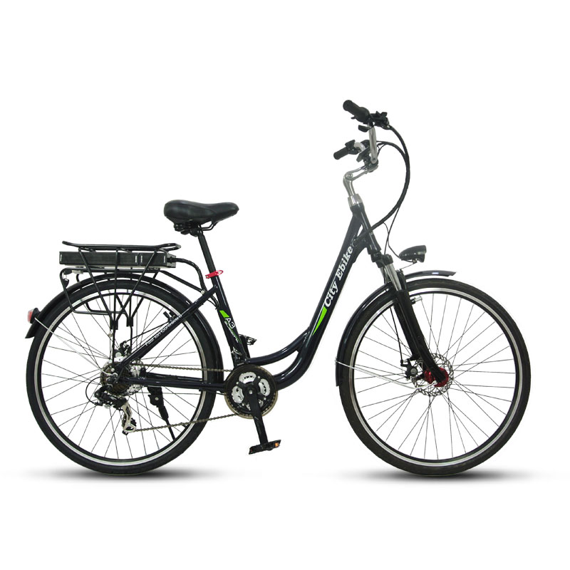 electric city bike 36v green power battery shuangye ebike. Black Bedroom Furniture Sets. Home Design Ideas