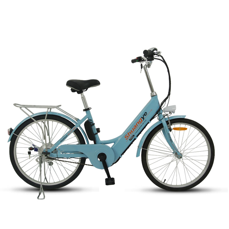 e bike city with 36v 250w brushless motor shuangye ebike. Black Bedroom Furniture Sets. Home Design Ideas