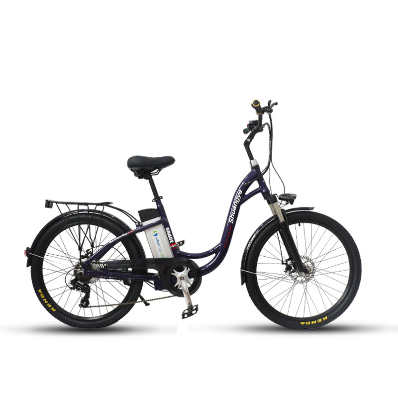 alloy frame city electric bike shuangye ebike. Black Bedroom Furniture Sets. Home Design Ideas