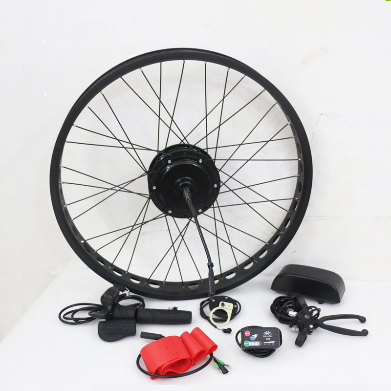 Fat Tire Electric Motor Kit: Fat Tire Electric Bike Kits
