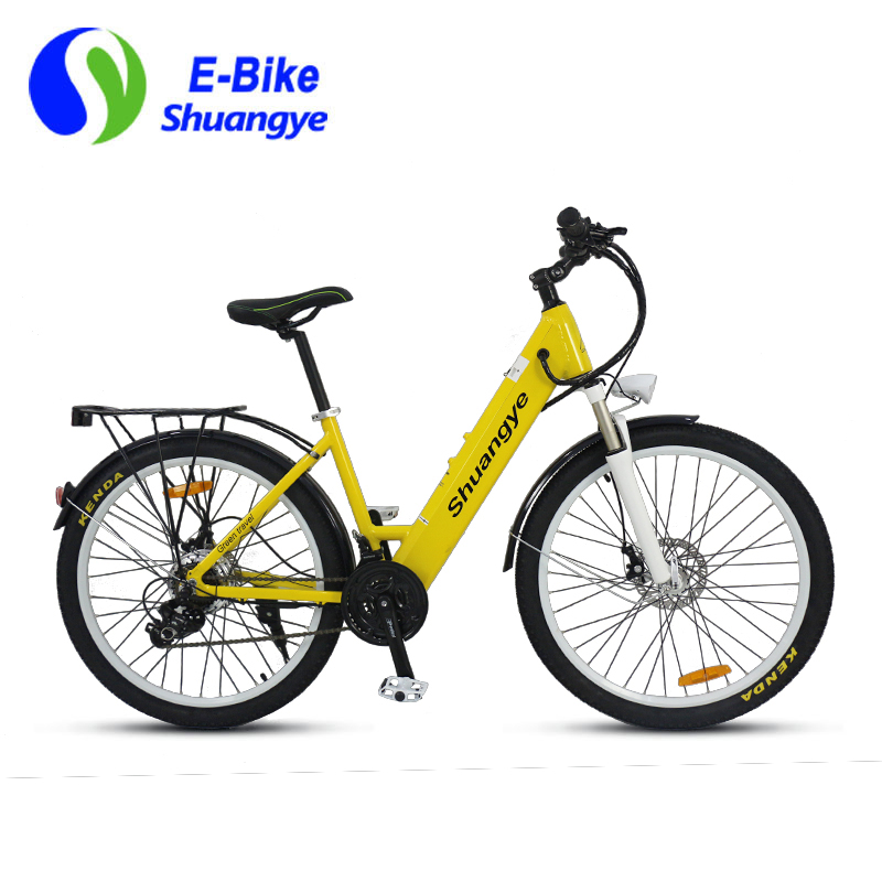 electric city bike 36v 28 inch frame shuangye ebike. Black Bedroom Furniture Sets. Home Design Ideas