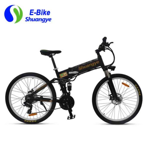 Folding electric mountain bicycles with hidden battery