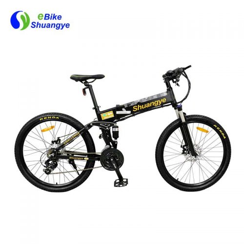 Folding electric mountain bicycles with hidden battery G4