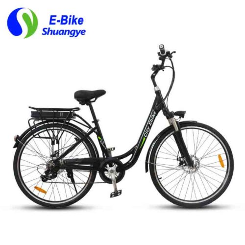 City E Bike on electric powered bicycles