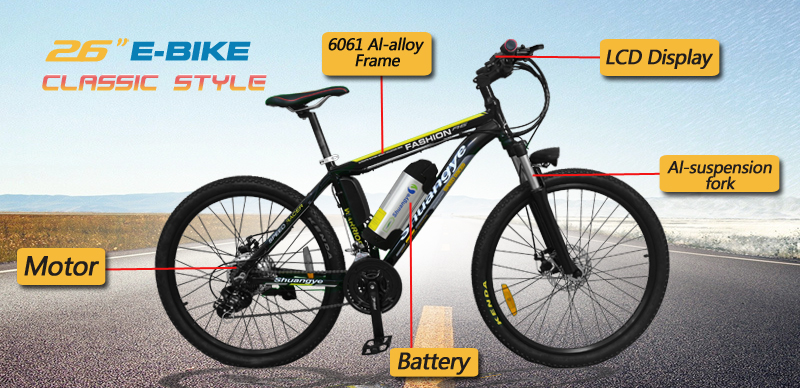 A6 TUV electric mountain bike