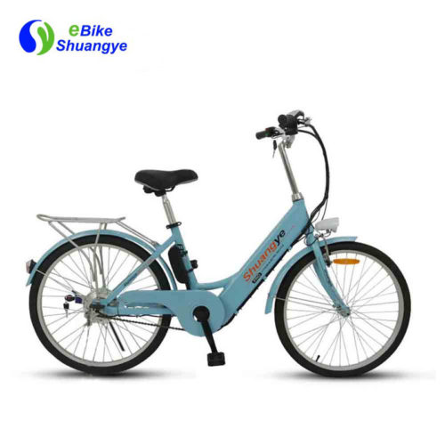Stylish electric bikes are designed for ladies