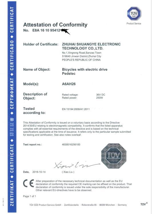 CE Certification-A6AH26
