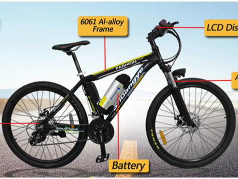mountainbike elektro 26'' 36v battery A6 instrcution manual