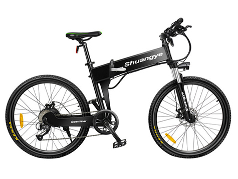 folding electric mountain bike