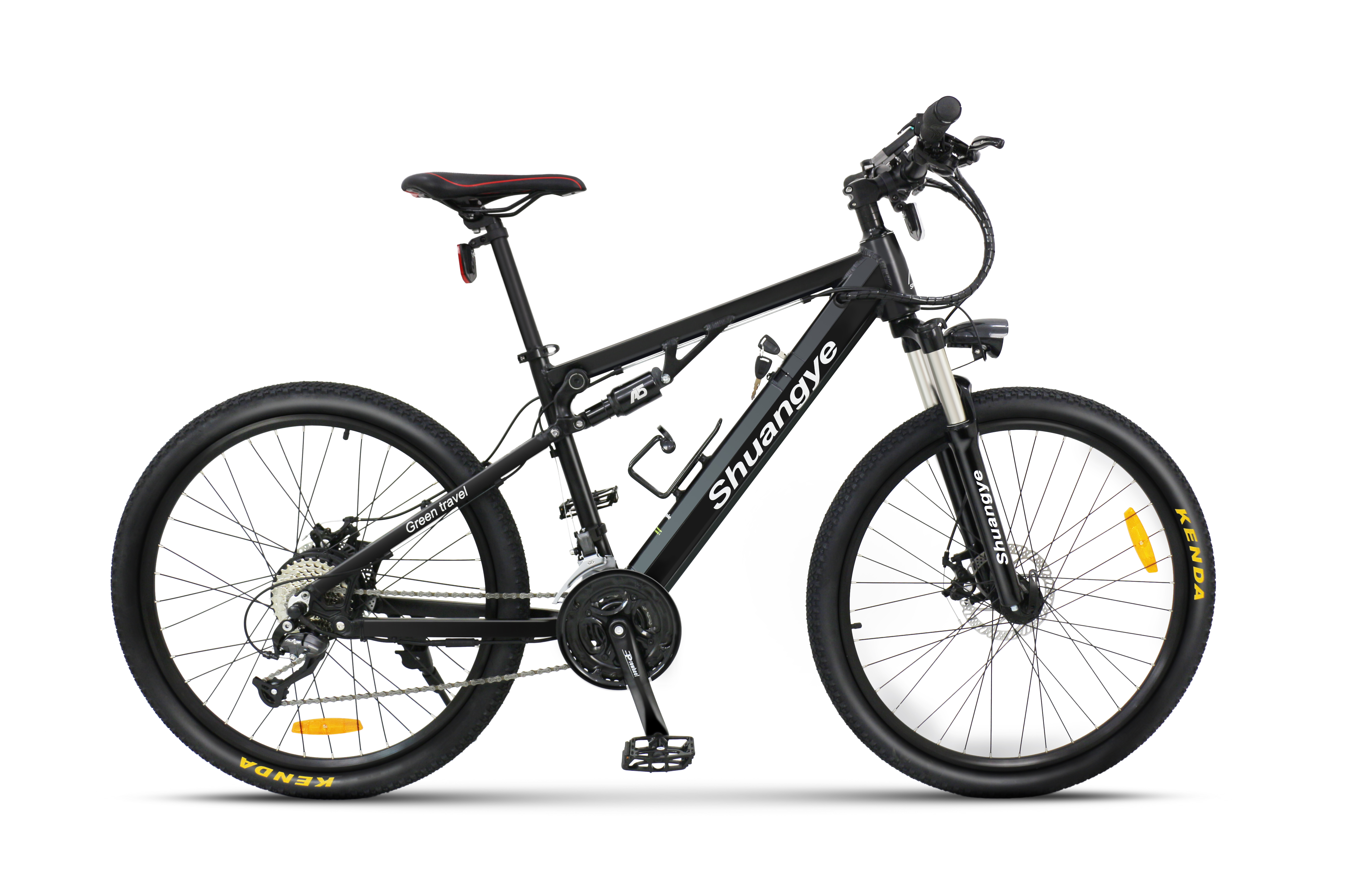 full suspension electric mountain bike 2 shuangye ebike. Black Bedroom Furniture Sets. Home Design Ideas