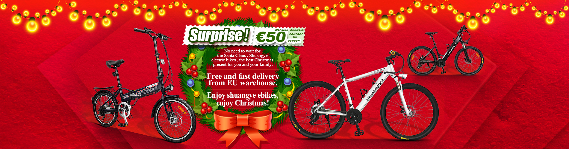 Christmas electric bike discount