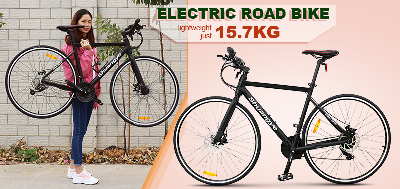 21 speed aluminum alloyframe road e bike