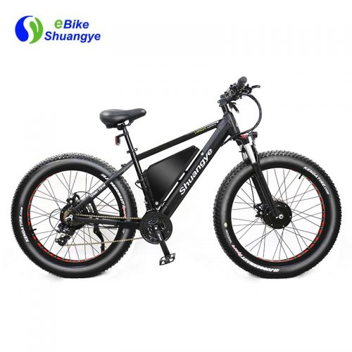 double motor electric bike fat tire snow ebike