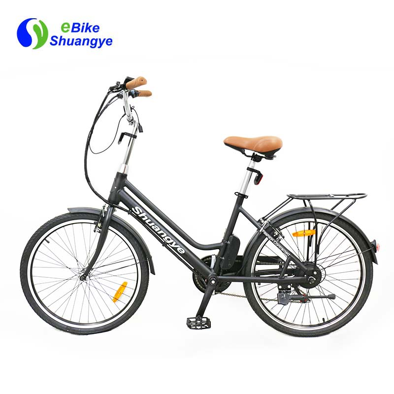 Cheap hidden lithium battery city electric bicycle 250w (4)