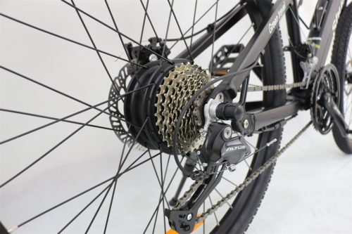 Electric bicycle flywheel.