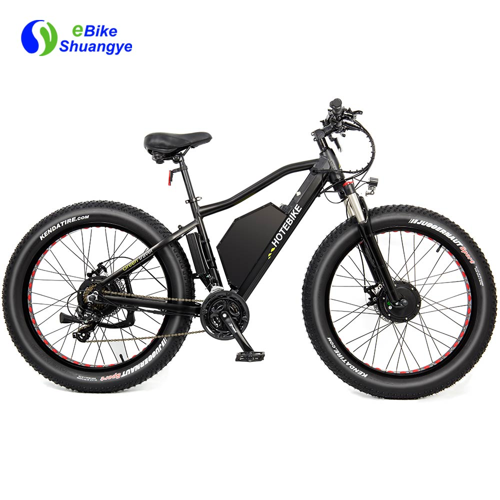 fat tire 48v powerful double motor electric bike  A7AT26