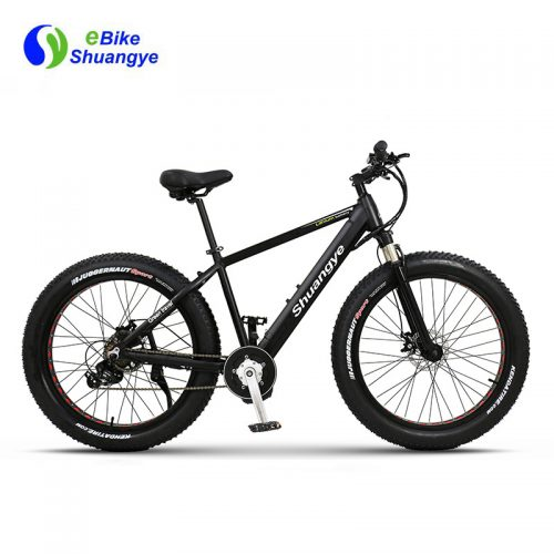 Mid drive men's fat tire Electric bike 26 inch 4.0 Hidden lithium battery A6AH26F