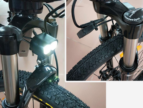 Shuangye new electric bicycle front lamp There are USB ports available