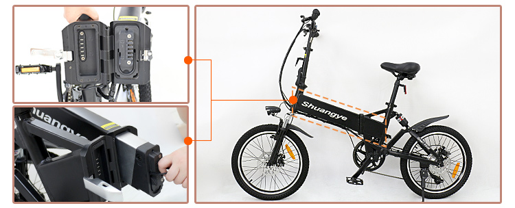 20 inch lightweight foldable smart electric bike3