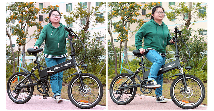 20 inch lightweight foldable smart electric bike9