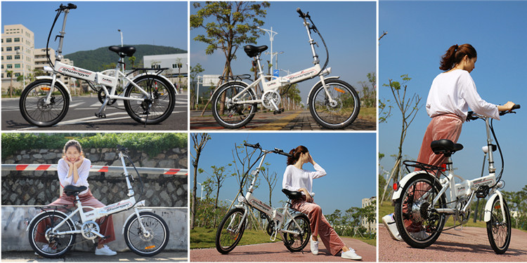 36v250w aluminum alloy frame best folding Variable speed electric bike5