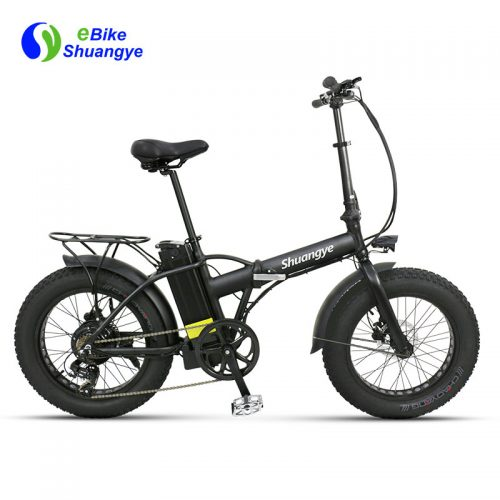 20 inch fat tire folding electric bicycle