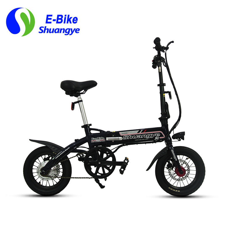 Dark blue 14 inch folding electric bicycle A1-S