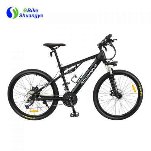 Dual suspension 26 inch electric bike
