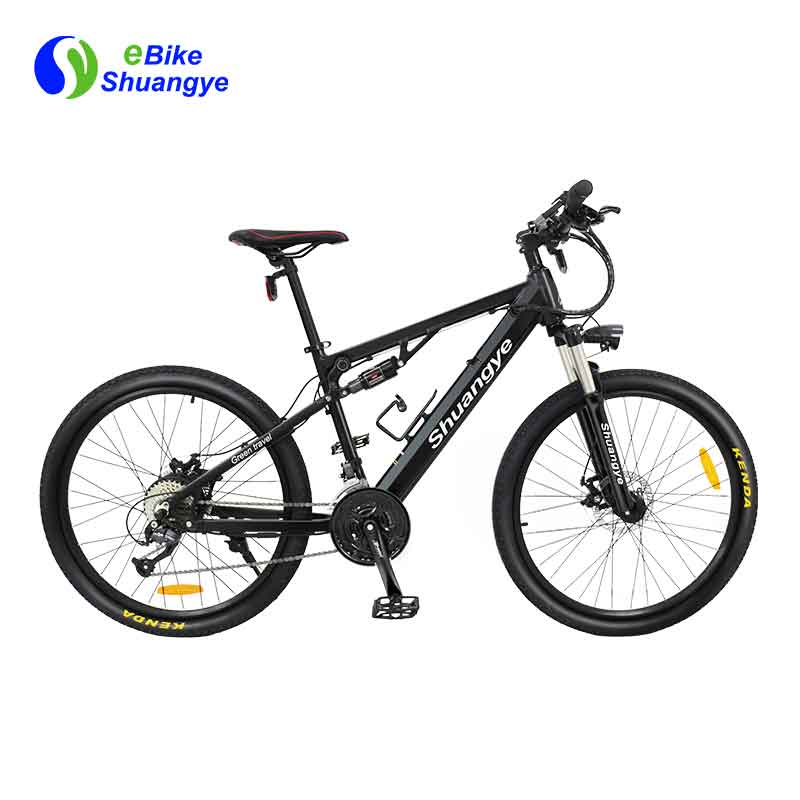 Dual suspension 26 inch electric bike A6AH26-S