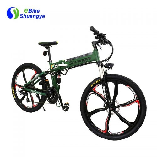 Magnesium aluminum wheel folding electric bike