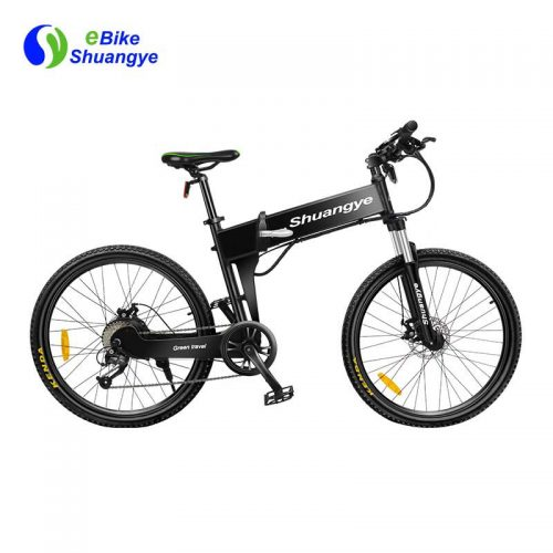 26 inch dual suspension discount folding electric bicycle