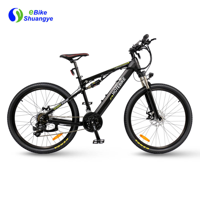 Hotebike dual suspension electric bike A6AH26-S