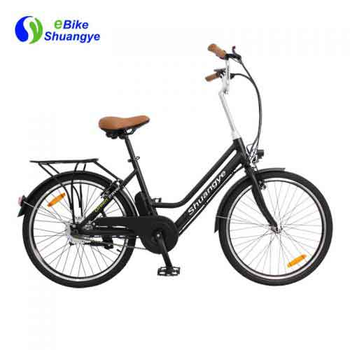 urban electric bike with 250W silver motor