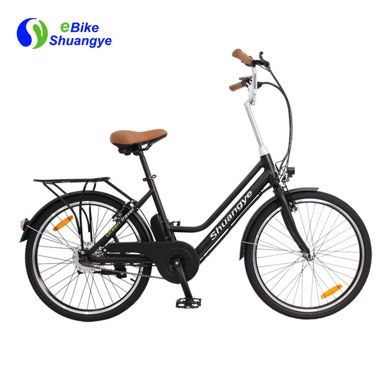 urban electric bike with 250W silver motor A3AL24