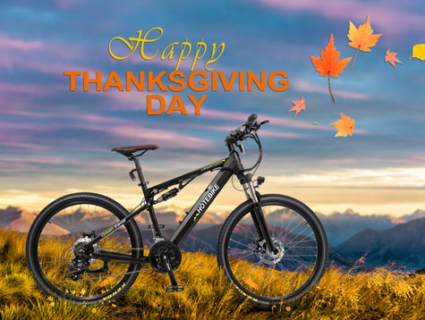 Happy Thanksgiving - Shuangye electric bikes waiting for you