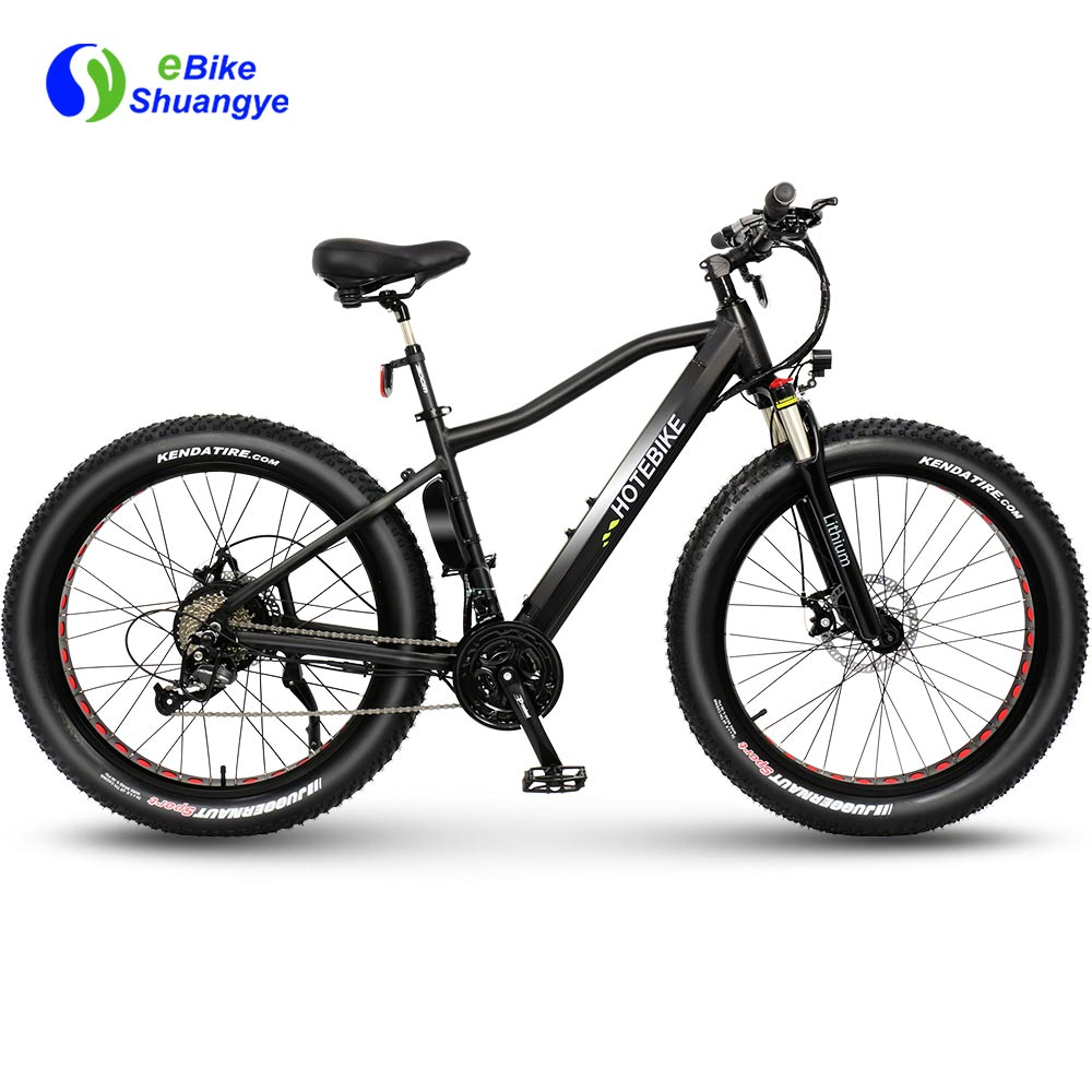 Electric fat tire mountain bike with third upgrade frame A6AH26F