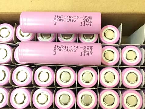 Samsung 18650 35E li-ion battery for fastest electric bike