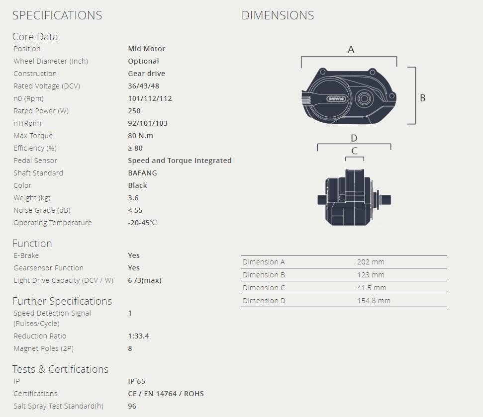 mid drive motor G332