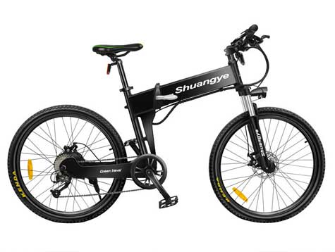 Fat tire folding e-bicycle for sale