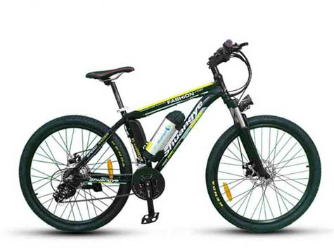 Track e-bikes for sale with bottle battery