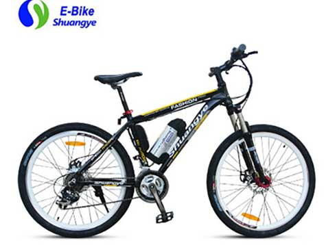 Batteries bicycle and non-electric bicycle