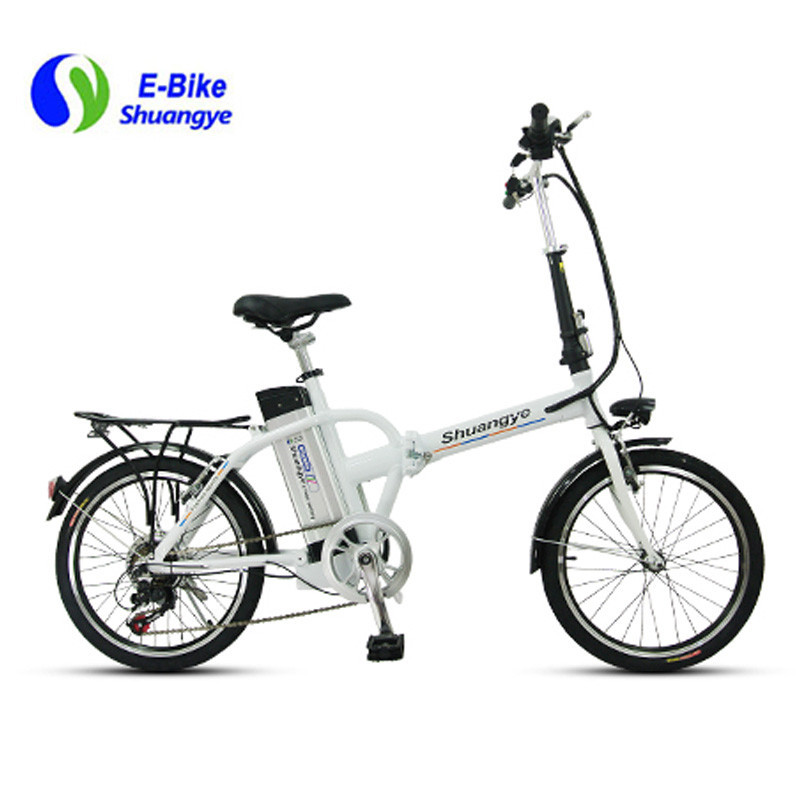 36V silver motor city electric folding bike A3AM20
