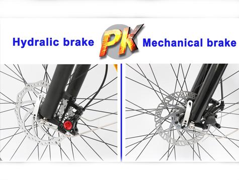 Hydraulic disc brake VS Mechanical disc brake