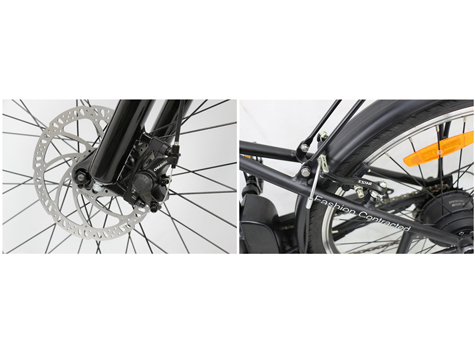 V-Brake or Mechanical Disc Brake on electric city bike