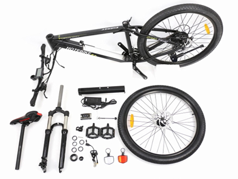 How to assemble an electric mountain bike