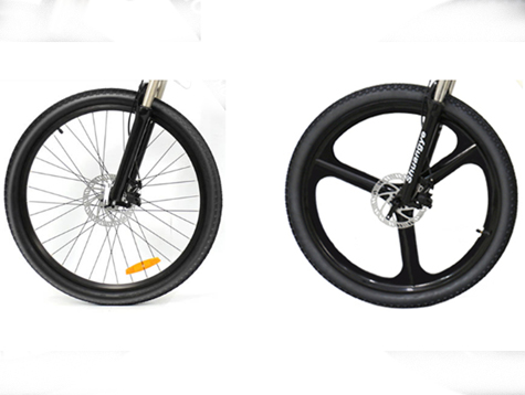 Magnesium alloy integrated and spoke ebike wheel