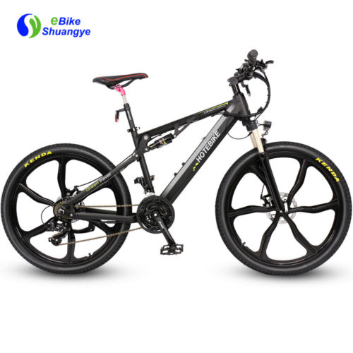 Full suspension electric mountain bike integrated wheel A6AH26-SM