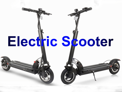 Folding electric scooters A1-8 showing